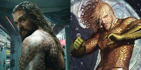 Human, Aquaman, Cg artwork, Fictional character, Facial hair, Illustration, Art, Mythology, Tattoo, Beard,
