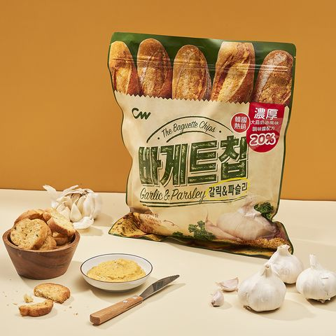 韓國正宗「大蒜麵包餅乾」正式開賣!黃金比例20大蒜奶油醬搭配玉米濃湯超涮嘴
