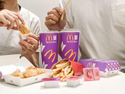 麥當勞 x bts 推出限定套餐