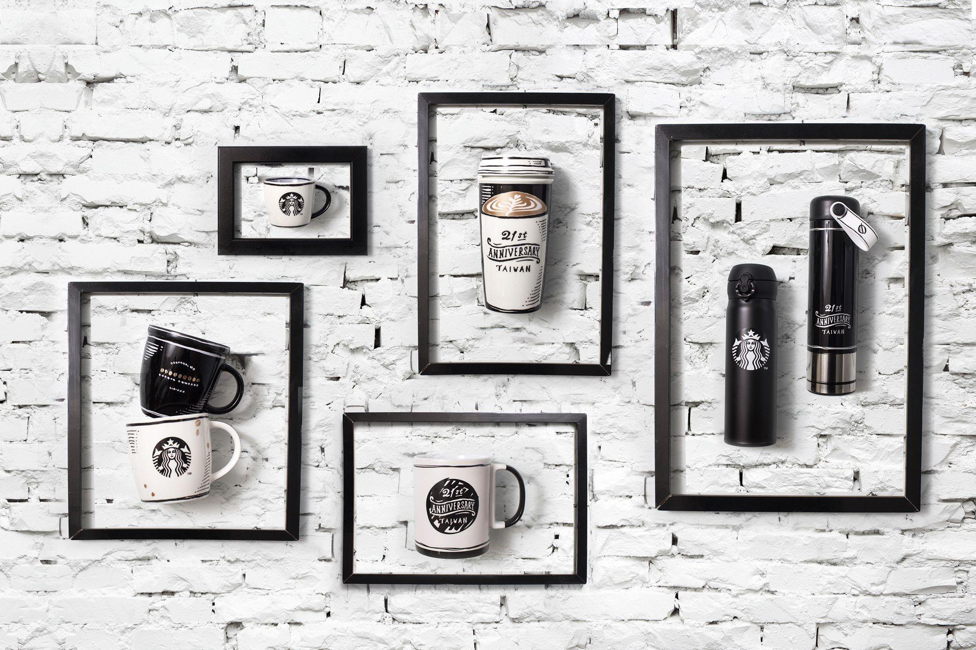 黑色,星巴克,starbucks,2D漫畫風,周年紀念商品,旅行風格咖啡組合