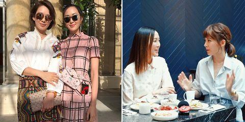 Melody x IG潮人 Chriselle Lim聊巴黎時裝週街拍
