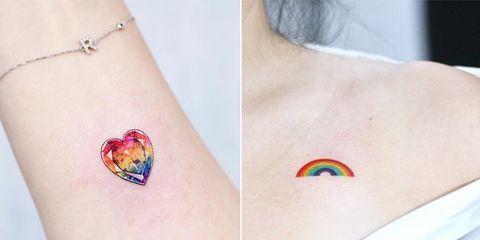 彩虹刺青, 刺青圖案, 刺青