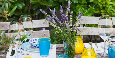 Lavender, Green, Table, Yellow, Purple, Plant, Brunch, Flower, Lemonade, Herb,