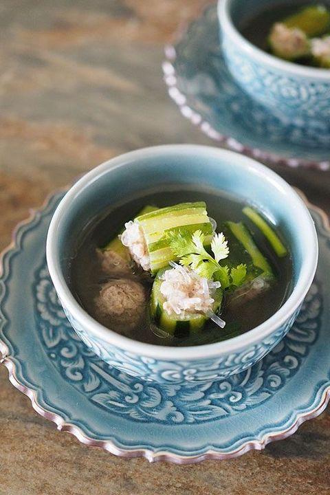 【10月23日】タイ風きゅうりの肉詰めスープ