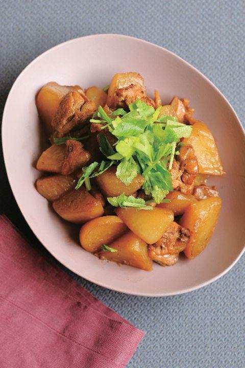 大根と鶏肉の炒め煮