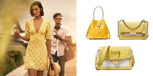 跟上bella hadid的夏日新色!盛夏檸檬黃包款來襲~