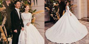 簡嫚書,婚紗,婚禮,NICOLE+FELICIA,白紗,婚紗,ELLE WEDDING