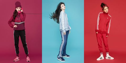 Clothing, Red, Standing, Fashion, Pajamas, Fashion model, Footwear, Trousers, Sportswear, Active pants,