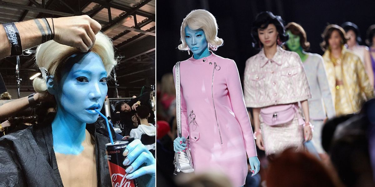 超模 SOO JOO PARK現身 MOSCHINO 2018米蘭時裝週大秀
