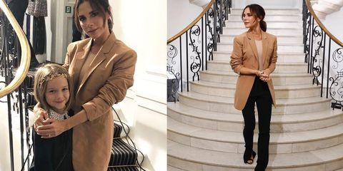 維多利亞貝克漢,穿搭,女星私服,造型,配色,Victoria Beckham,貝嫂,倫敦時裝週,