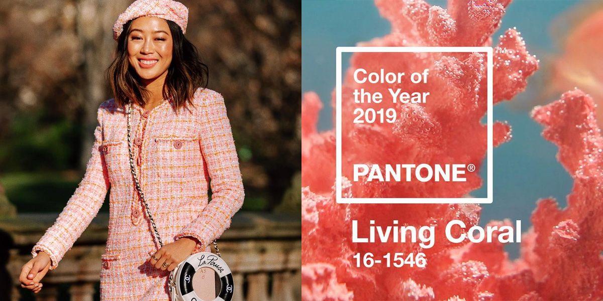 Pantone, 年度代表色, 彩通, 珊瑚橘,色彩穿搭,2019年度代表色,潮流色,色彩趨勢