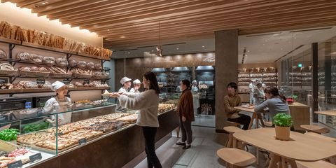 Bakery, Interior design, Building, Restaurant, Food court, Brunch, Business, Pâtisserie, Cafeteria, Coffeehouse,