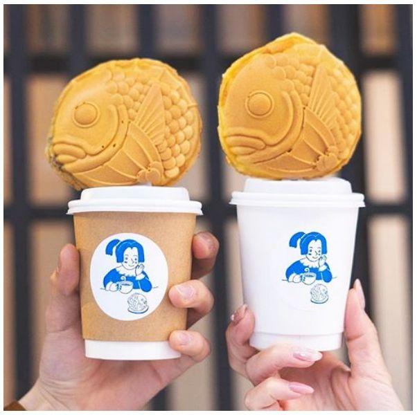 Taiyaki, Bungeoppang, Ice cream, Soft Serve Ice Creams, Frozen dessert, Gelato, Food, Ice cream cone, Brain, Dessert,