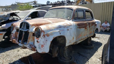 1959 mercedes benz w120 in california junkyard