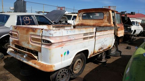 1962 Chevrolet Corvair 95 Rampside in Arizona Junkyard