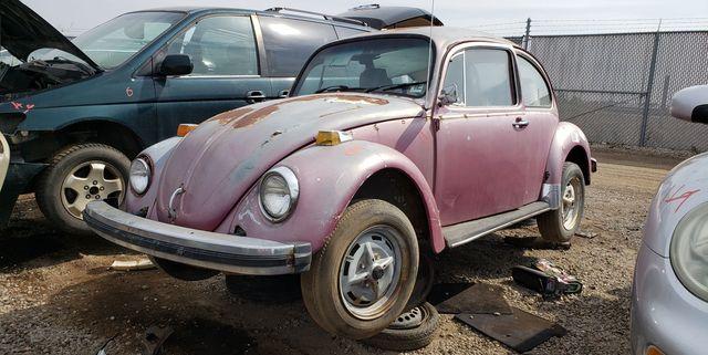 1976 volkswagen beetle in denver junkyard