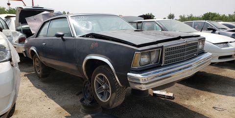 1978 chevrolet malibu coupe in colorado junkyard