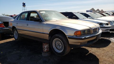 1995 bmw 740i e38 in arizona junkyard
