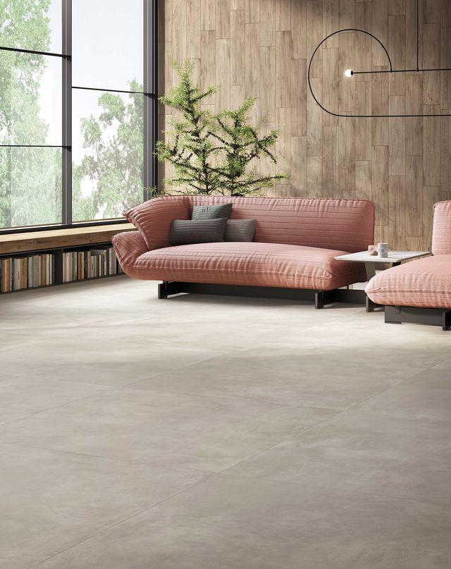 pavimento effetto cemento ceramica del conca