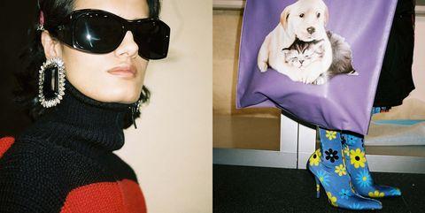 Eyewear, Sunglasses, Head, Purple, Glasses, Fashion, Pink, Scarf, Vision care, Headgear,