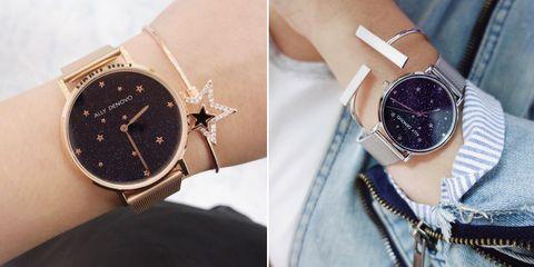 Analog watch, Watch, Watch accessory, Fashion accessory, Wrist, Fashion, Strap, Arm, Jewellery, Material property,