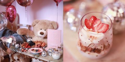 Food, Sweetness, Pink, Dessert, Teddy bear, Valentine's day, Cuisine,