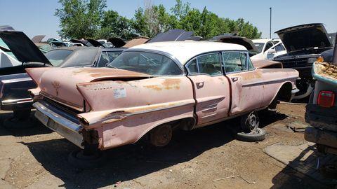 1958 cadillac 62 sedan in colorado junkyard