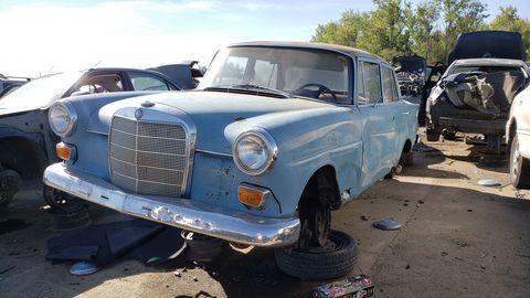 1967 mercedes benz w110 in colorado junkyard