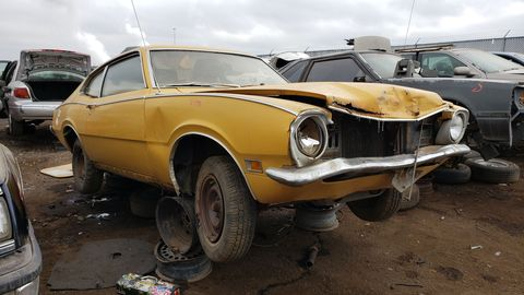 1972 mercury comet 2 door sedan in colorado junkyard