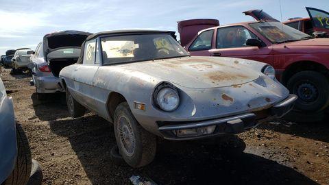 1974 alfa romeo spider in colorado junkyard