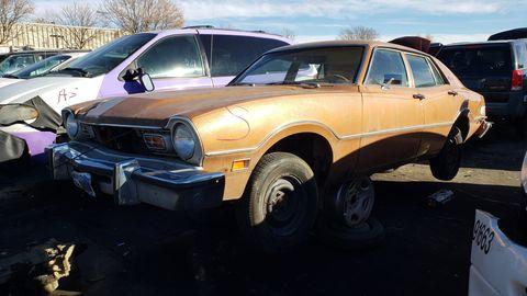 1974 ford maverick sedan in colorado junkyard