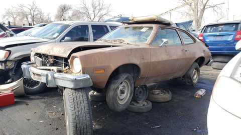1974 ford pinto in colorado junkyard