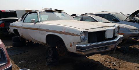 1975 oldsmobile cutlass supreme w25 hurst edition in colorado junkyard