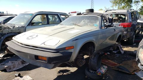 1980 triumph tr7 drophead coupe in colorado scrapyard
