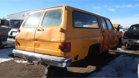 1981 chevrolet c20 suburban in colorado junkyard