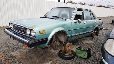 1981 honda accord in california junkyard