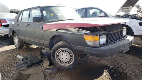 1981 saab 900 turbo in denver junkyard