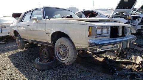 1984 Oldsmobile Cutlass Supreme in California junkyard