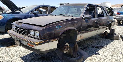 1985 chevrolet cavalier f41 in california junkyard