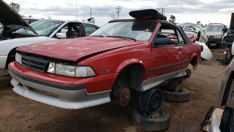 1988 chevrolet cavalier z24 convertible in colorado junkyard
