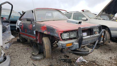 1989 subaru gl in colorado junkyard