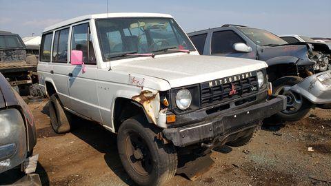 1990 mitsubishi montero in colorado junkyard