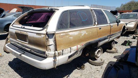 1993 buick roadmaster estate in california junkyard