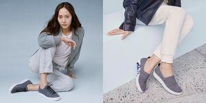 鄭秀晶 ,Krystal,KEDS ,灰色,休閒球鞋