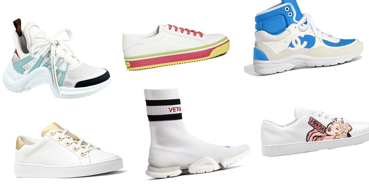 白球鞋,小白鞋,名牌球鞋,運動鞋,CHANEL,LOUIS VUITTON,HOGAN,MARC JACOBS,MICHAEL KORS,白球鞋推薦,白球鞋2018 ,PRADA,VETEMENTS ,白鞋女