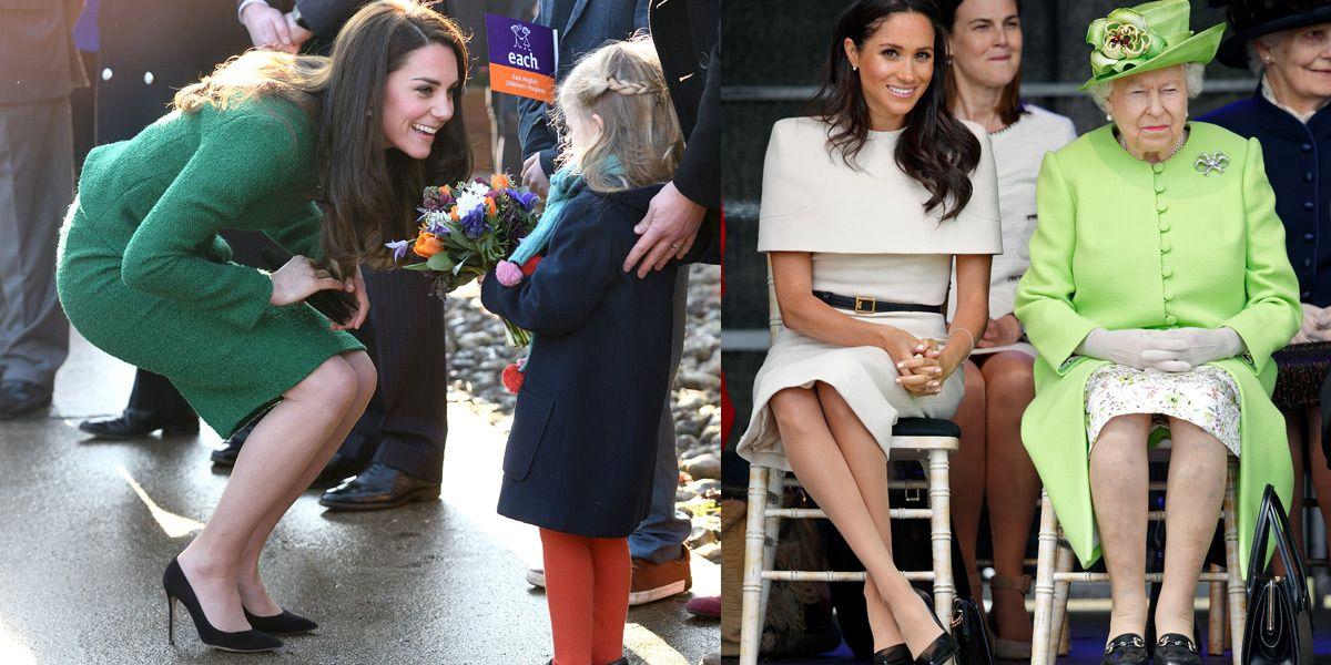 Kate Middleton, Meghan Markle, 凱特王妃, 梅根馬克爾, 英國皇室, 高跟鞋, 皇室禮儀,穿搭
