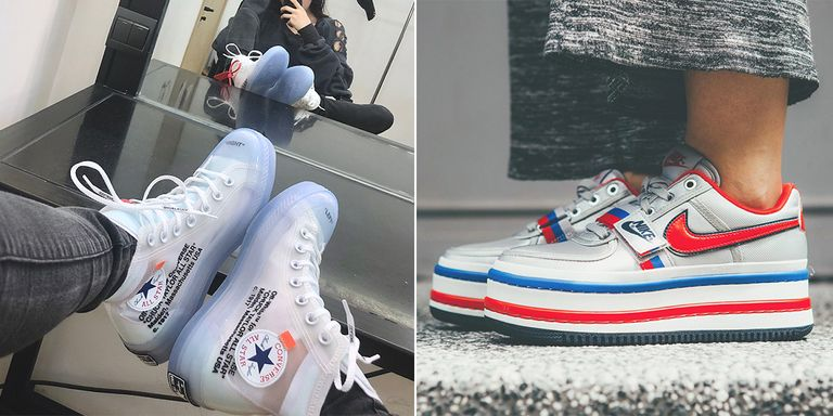 NIKE VANDAL SURPRISE厚底球鞋、CONVERSE off-white