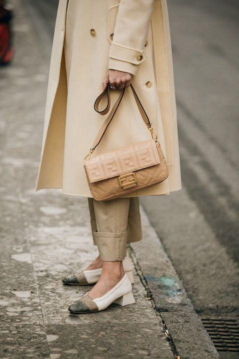 Clothing, Street fashion, Fashion, Coat, Trench coat, Footwear, Snapshot, Beige, Outerwear, Shoe,