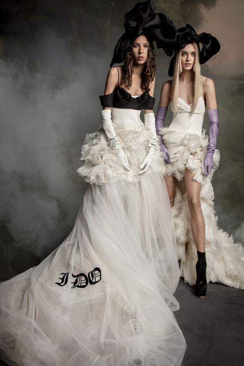 Gown, Wedding dress, Fashion model, Dress, Clothing, White, Fashion, Bridal clothing, Haute couture, Beauty,