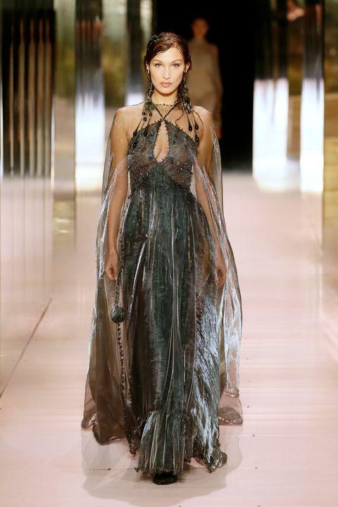 fendi, haute couture spring summer 2021, kim jones, bella hadid